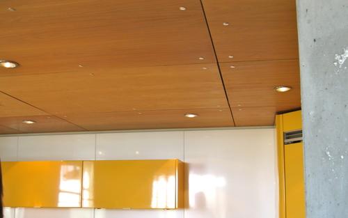 Потолок из фанерных листов