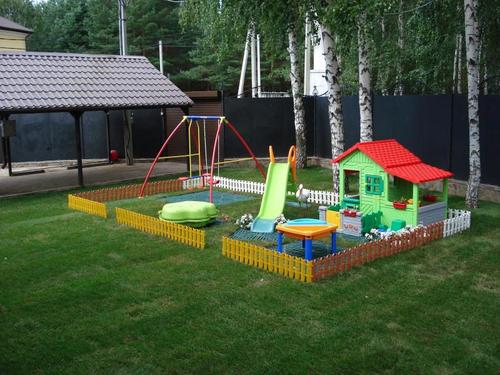 Детская площадка в частном доме