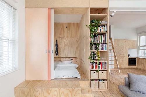 Двери из фанеры в интерьере квартиры-студии