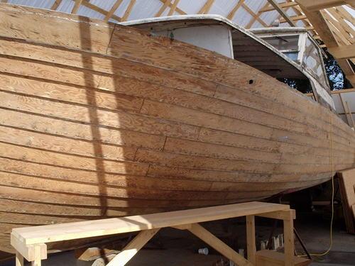 как обтянуть лодку из фанеры стеклотканью