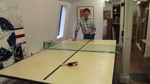 Самодельный теннисный стол