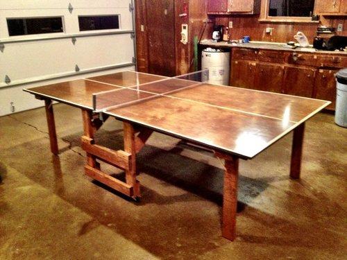 Теннисный стол из фанеры