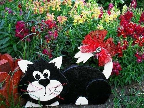 Симпатичный кот из фанеры